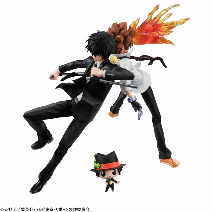 「G.E.M.シリーズ 家庭教師ヒットマンREBORN! 沢田綱吉&雲雀恭弥&リボーンセット」のフィギュア画像